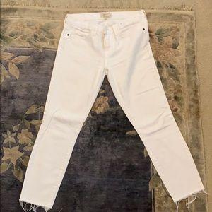 Current Elliot white jeans
